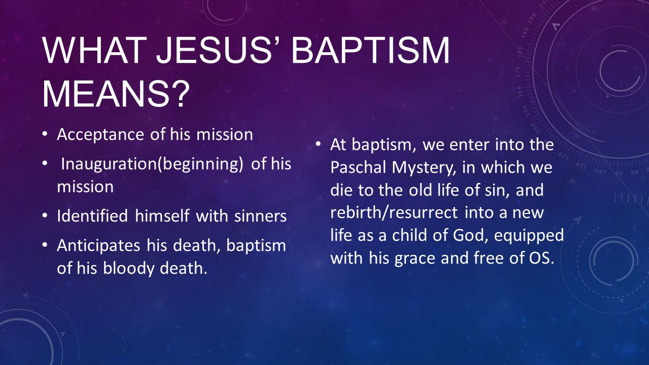 What Jesus' baptism means