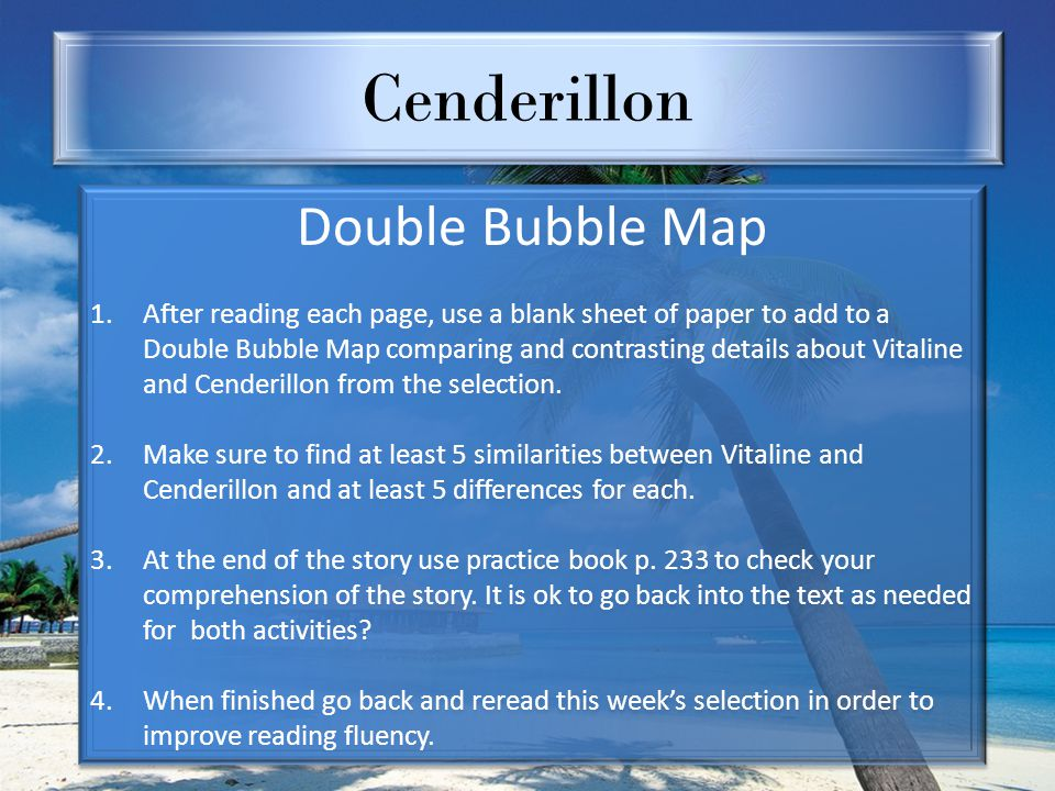 Cenderillon Double Bubble Map