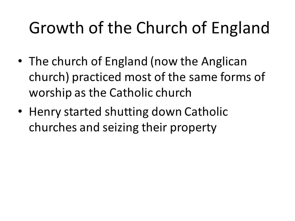 Growth of the Church of England