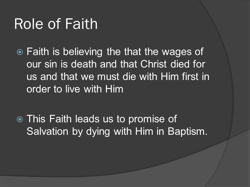Role of Faith