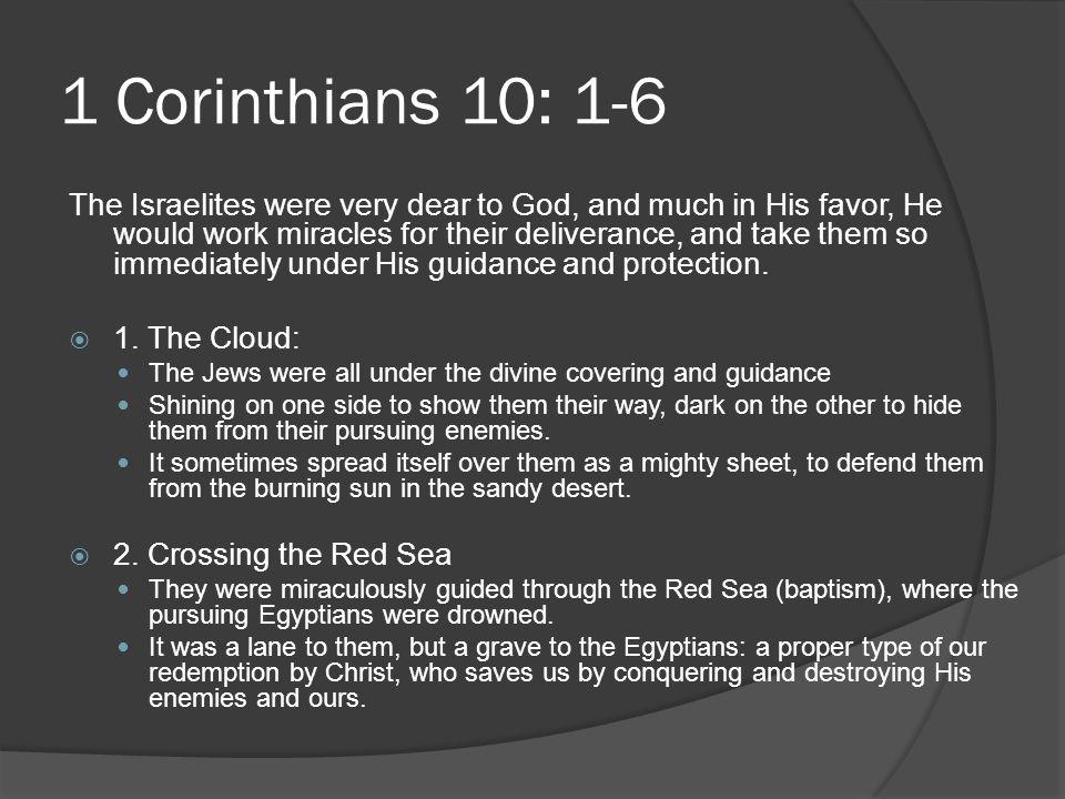 1 Corinthians 10: 1-6
