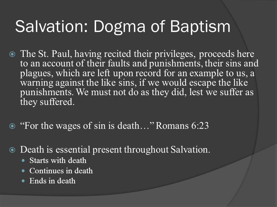 Salvation: Dogma of Baptism