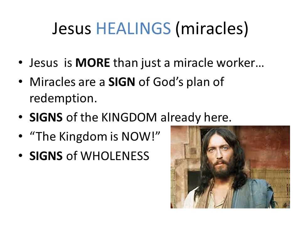 Jesus HEALINGS (miracles)