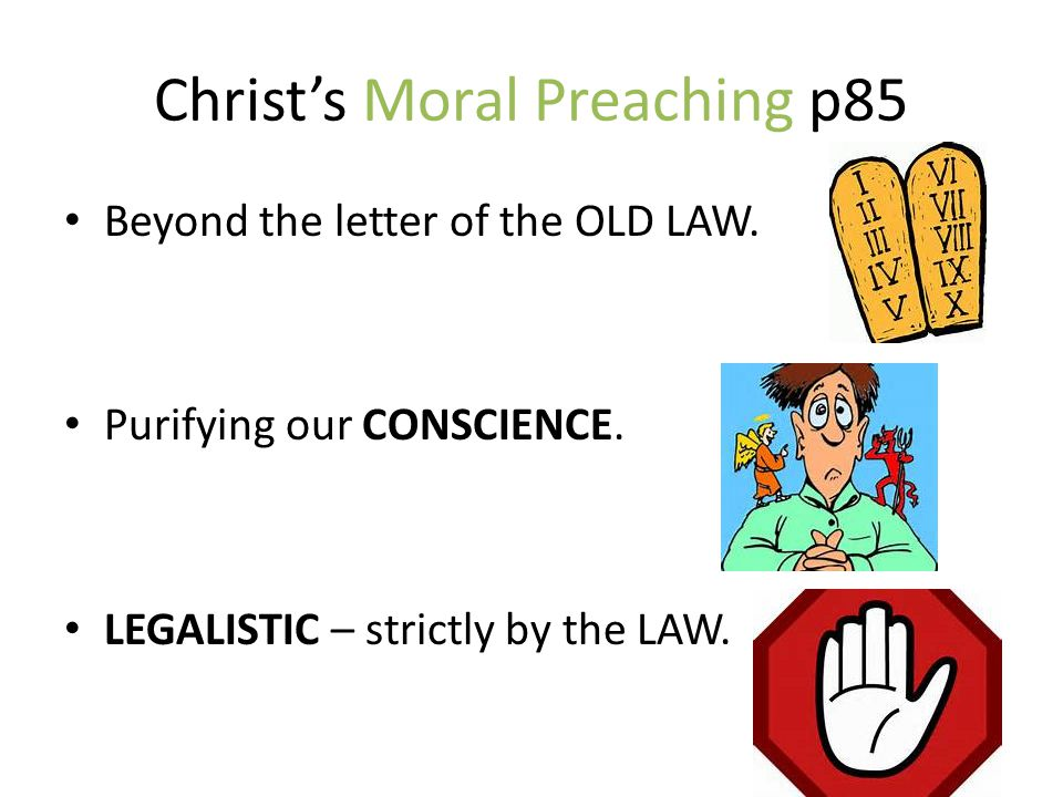 Christ's Moral Preaching p85