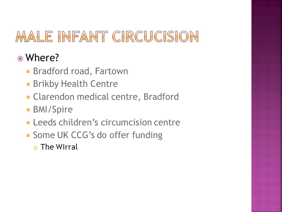 Male infant circuCIsion
