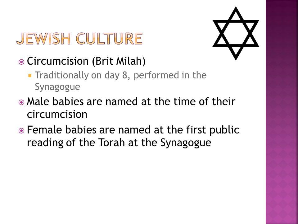 Jewish Culture Circumcision (Brit Milah)