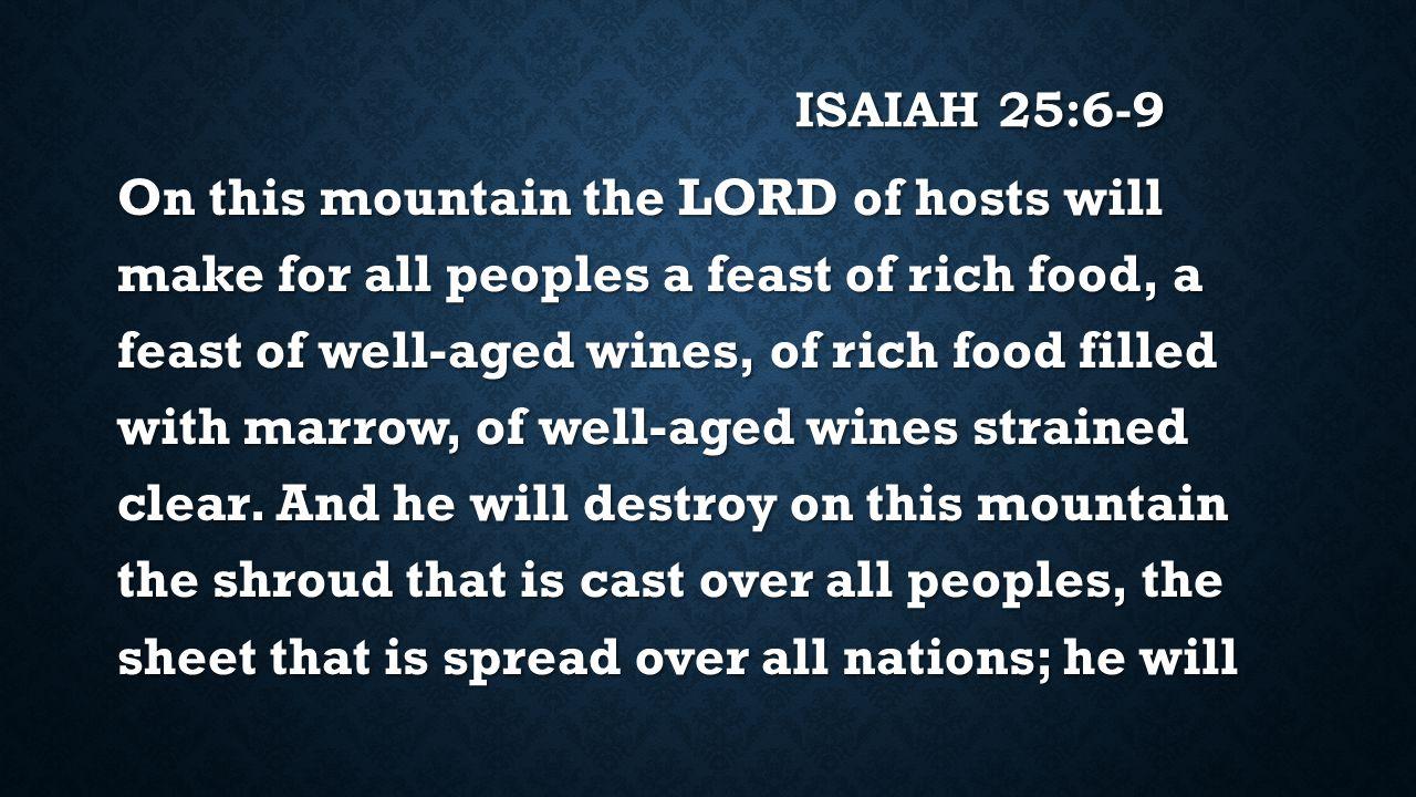 Isaiah 25:6-9