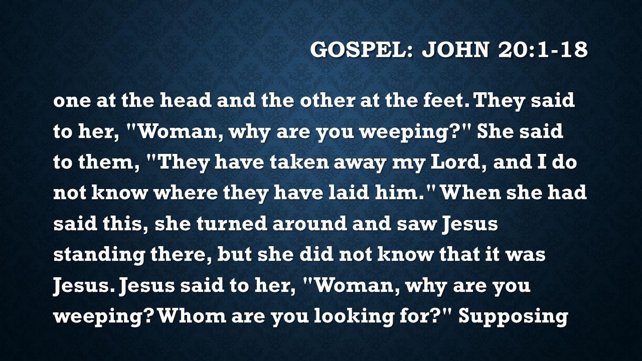Gospel: JOHN 20:1-18