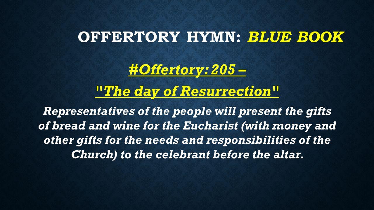 Offertory Hymn: Blue BOOK