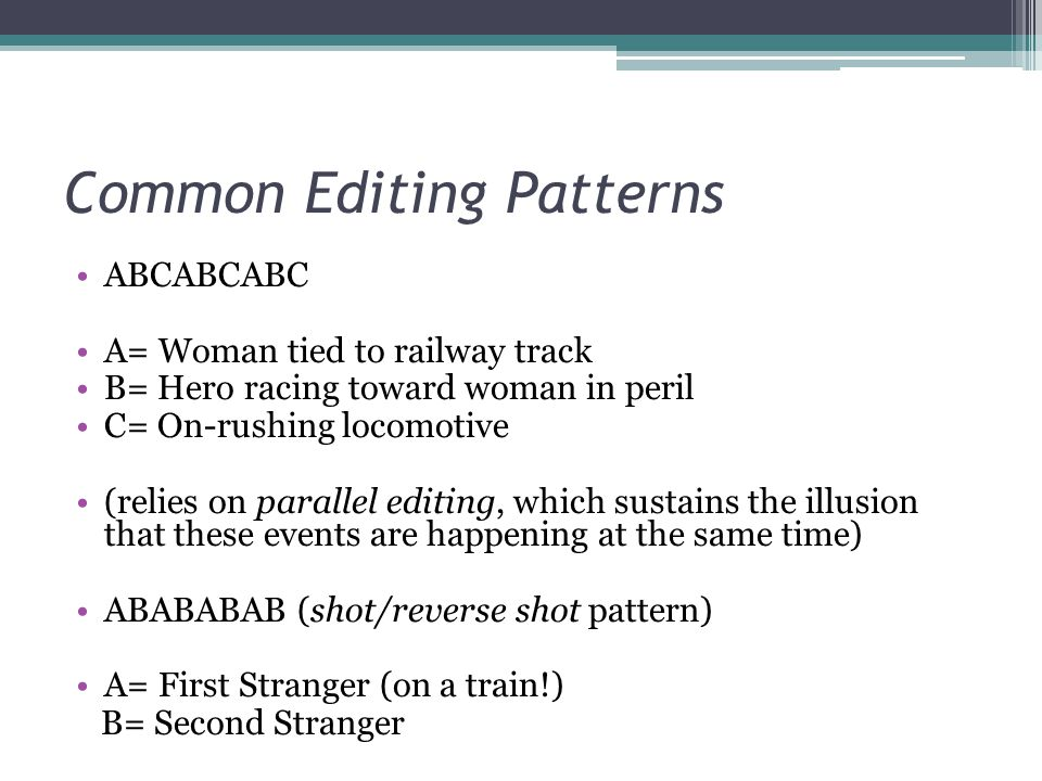 Common Editing Patterns