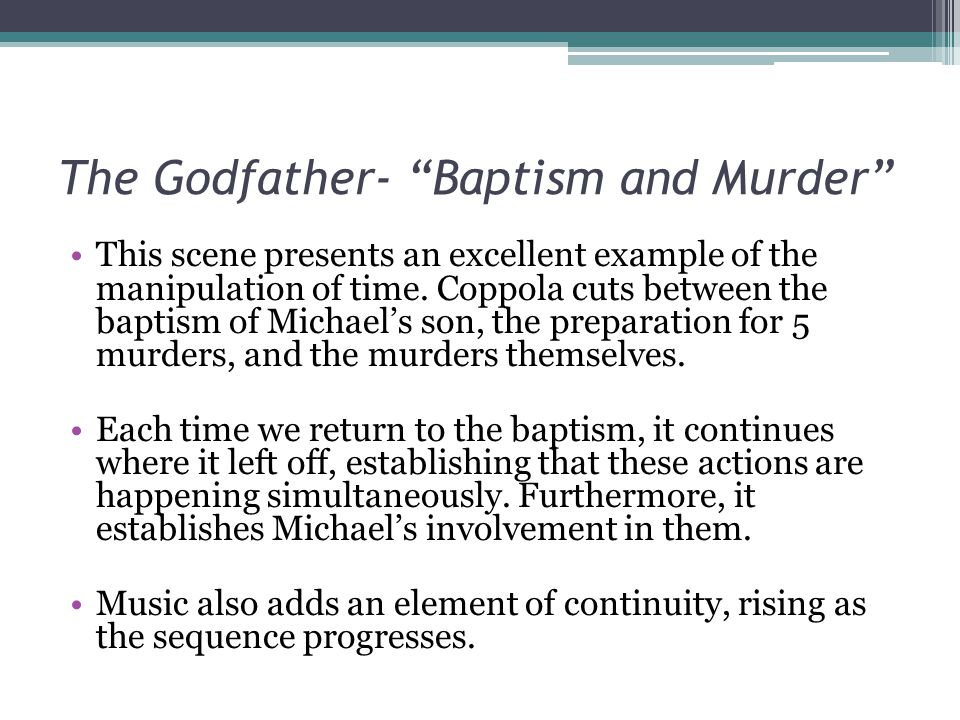 The Godfather- Baptism and Murder