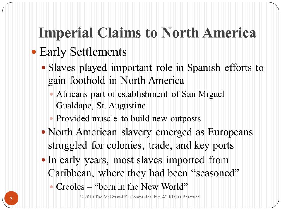 Imperial Claims to North America