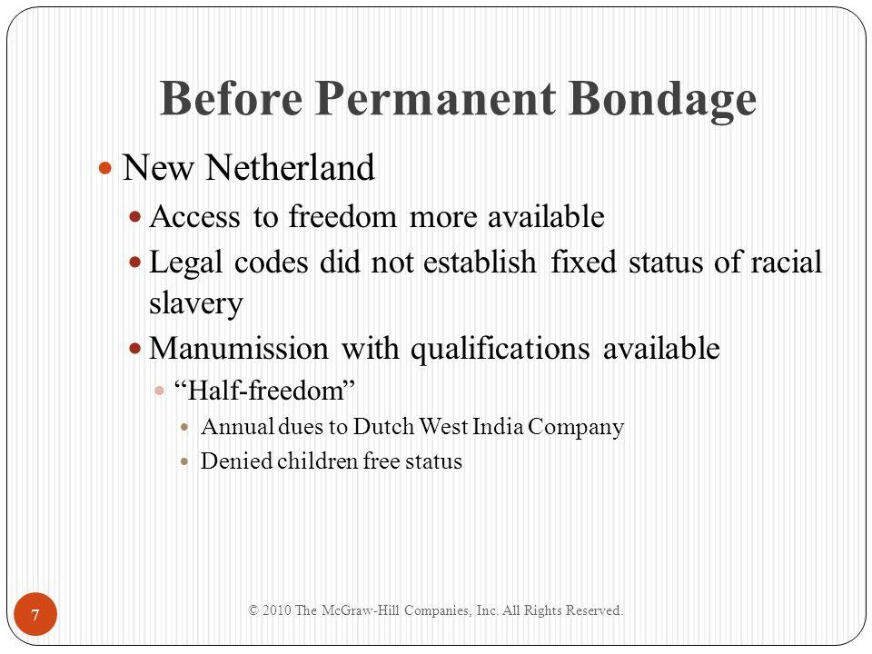 Before Permanent Bondage
