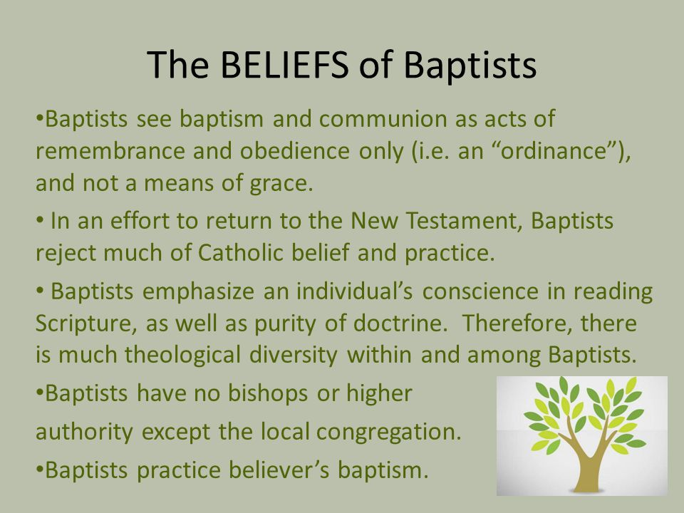 The BELIEFS of Baptists