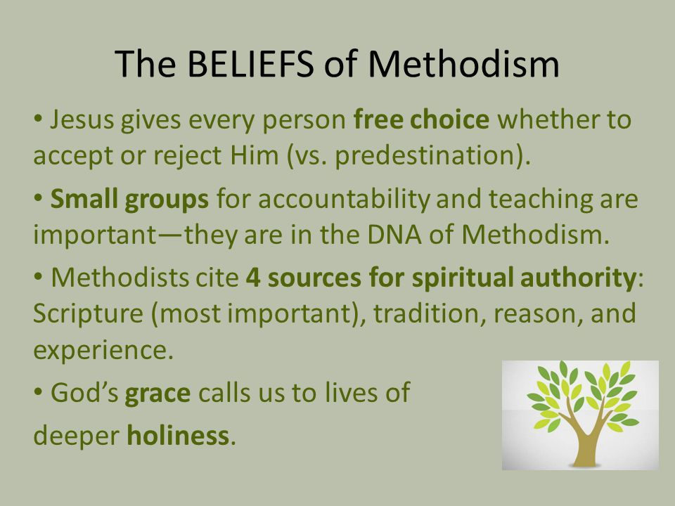 The BELIEFS of Methodism