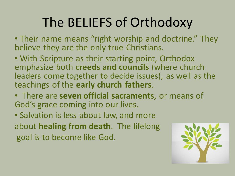 The BELIEFS of Orthodoxy