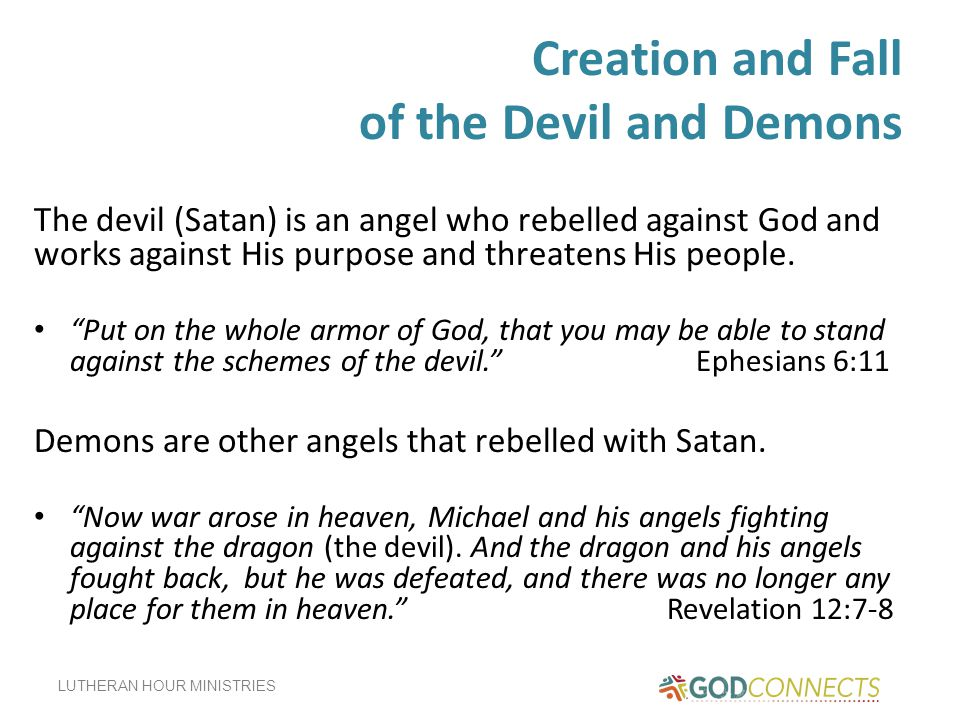 Creation and Fall of the Devil and Demons