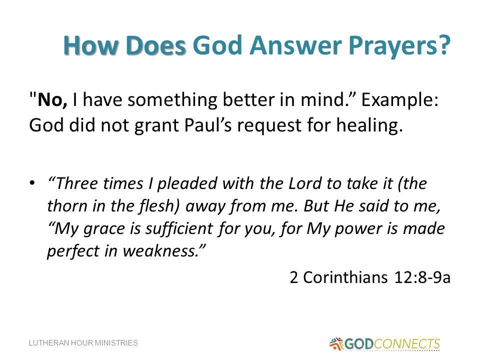 How Does God Answer Prayers