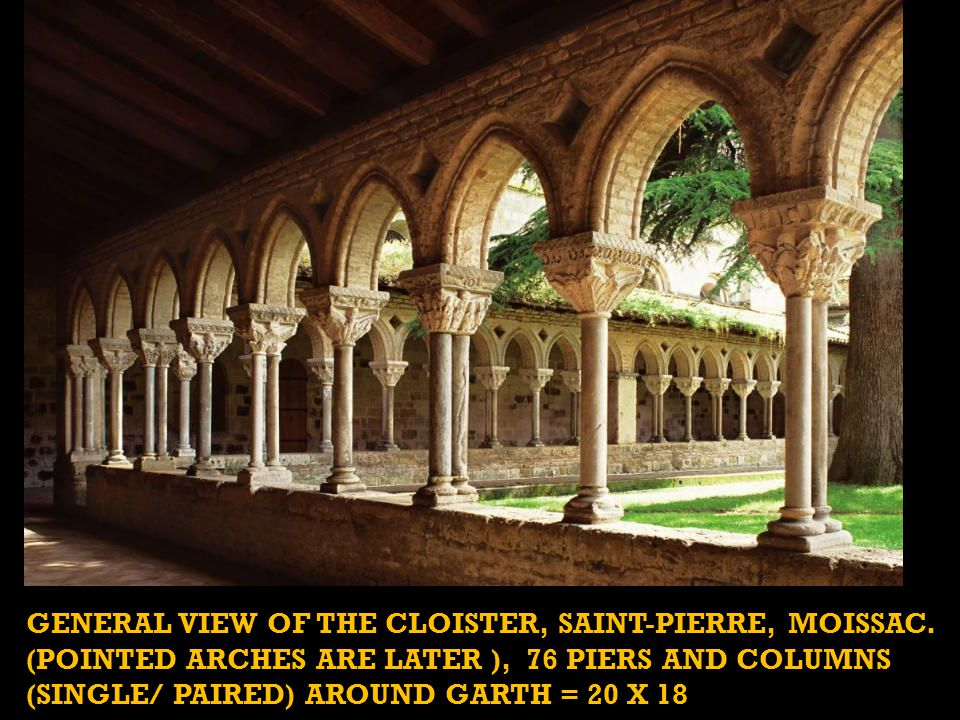 The church's cloister was decorated for the monks alone to see