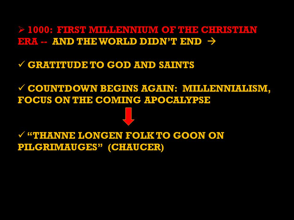 1000: FIRST MILLENNIUM OF THE CHRISTIAN ERA -- AND THE WORLD DIDN'T END 