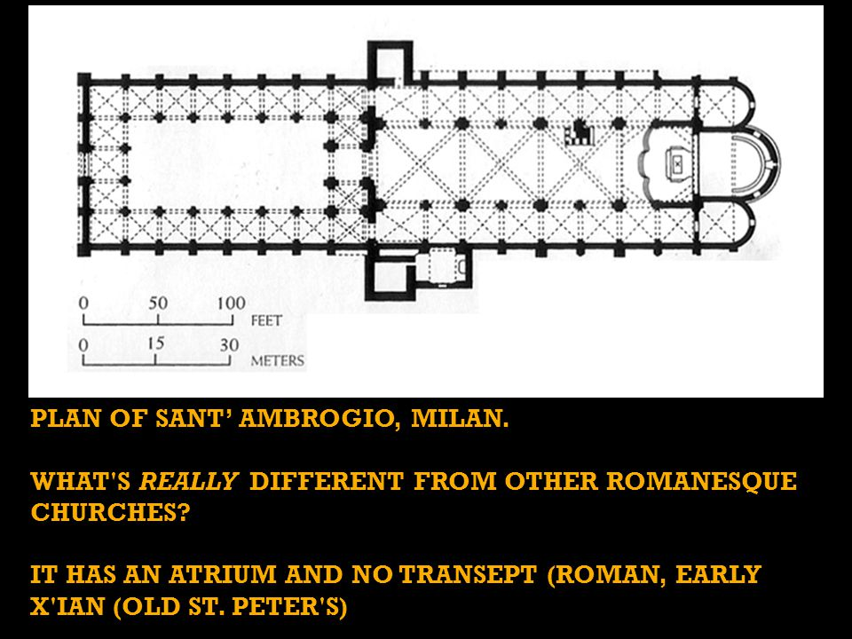 Plan of Sant' Ambrogio, MILAN.
