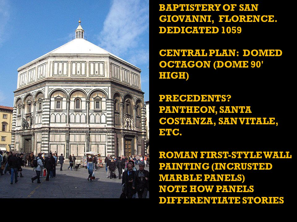BAPTISTERY OF SAN GIOVANNI, FLORENCE. DEDICATED 1059