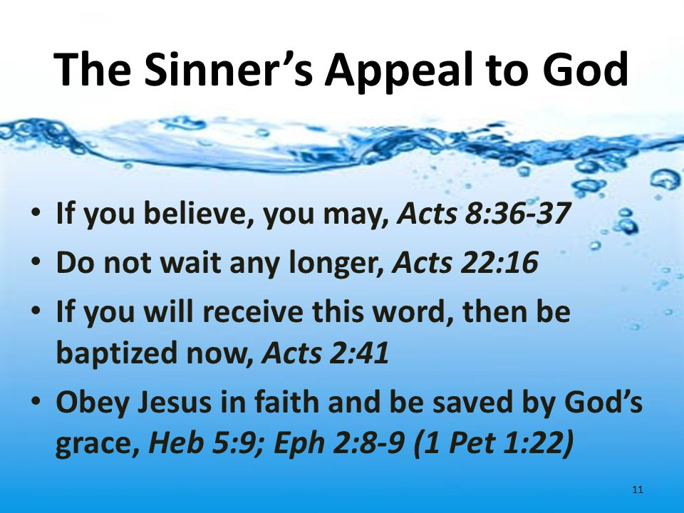 The Sinner's Appeal to God