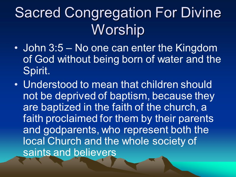 Sacred Congregation For Divine Worship