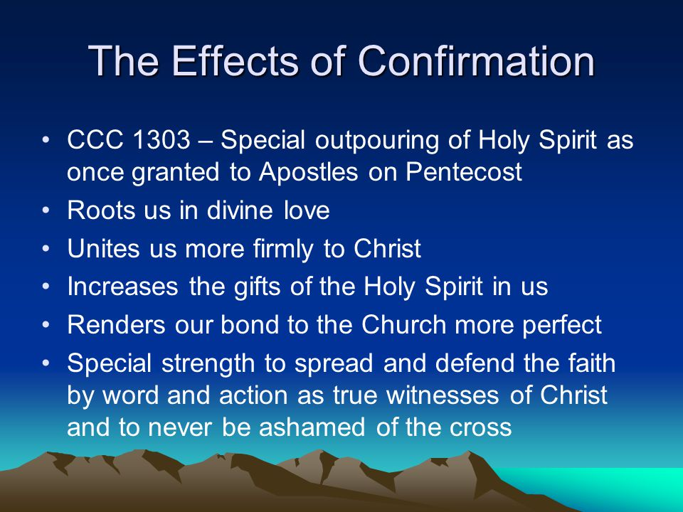 The Effects of Confirmation