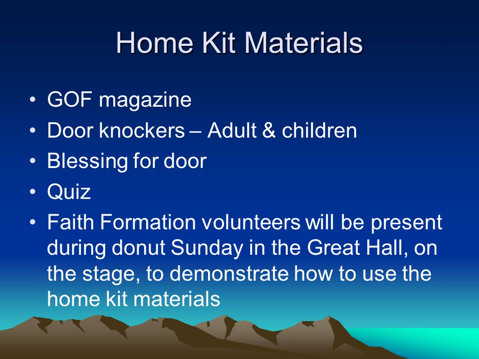 Home Kit Materials GOF magazine Door knockers – Adult & children