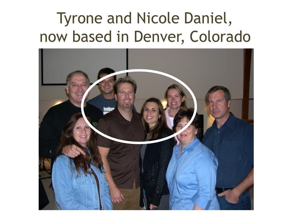 Tyrone and Nicole Daniel, now based in Denver, Colorado