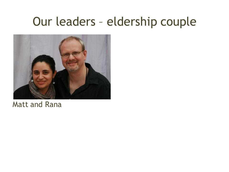 Our leaders – eldership couple