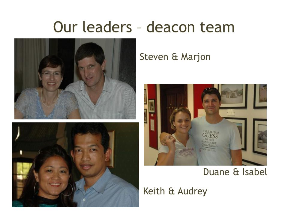 Our leaders – deacon team
