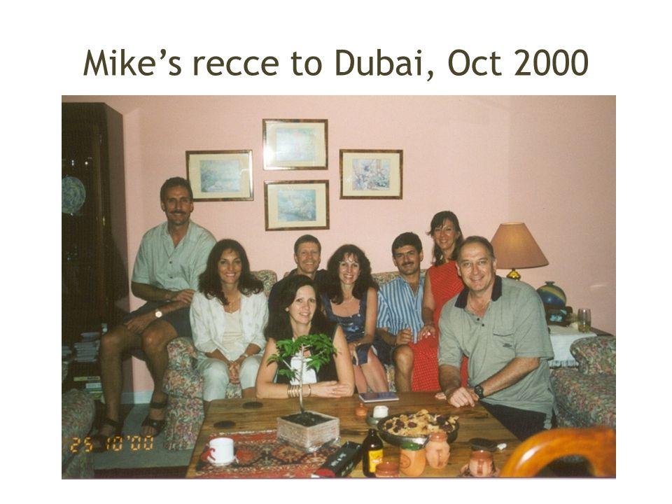 Mike's recce to Dubai, Oct 2000