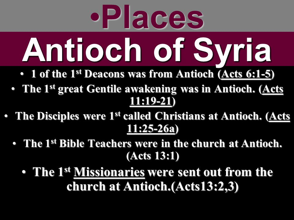 Places Antioch of Syria