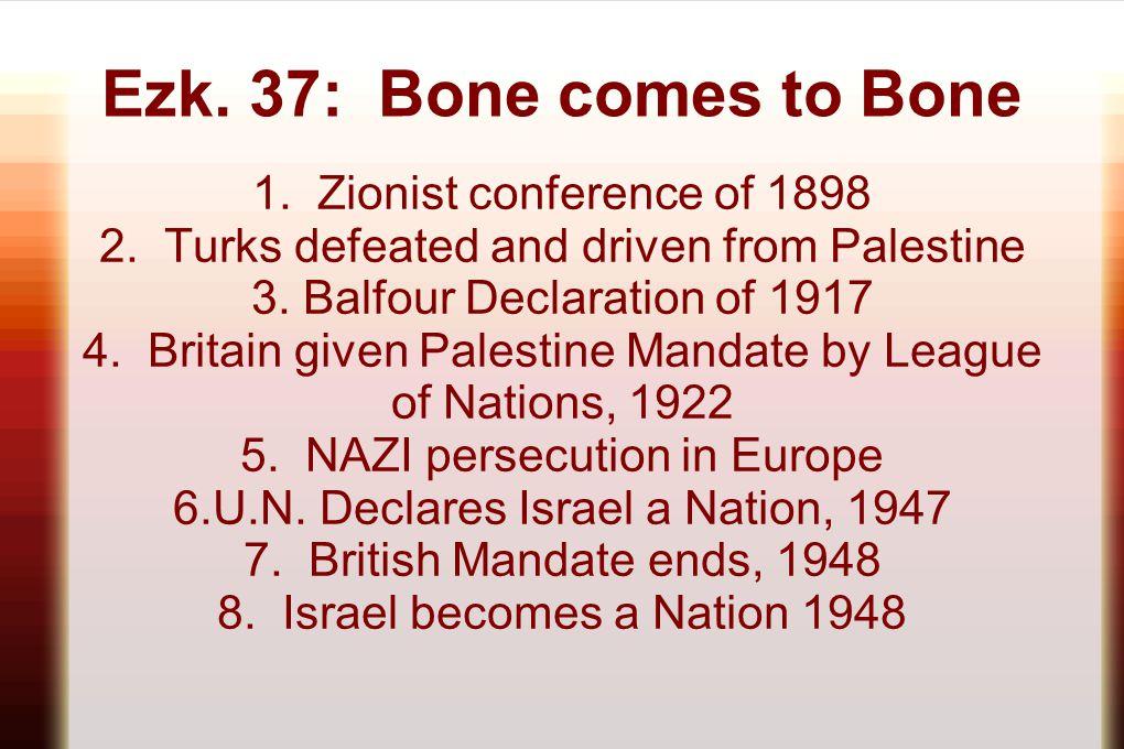 Ezk. 37: Bone comes to Bone 1. Zionist conference of 1898