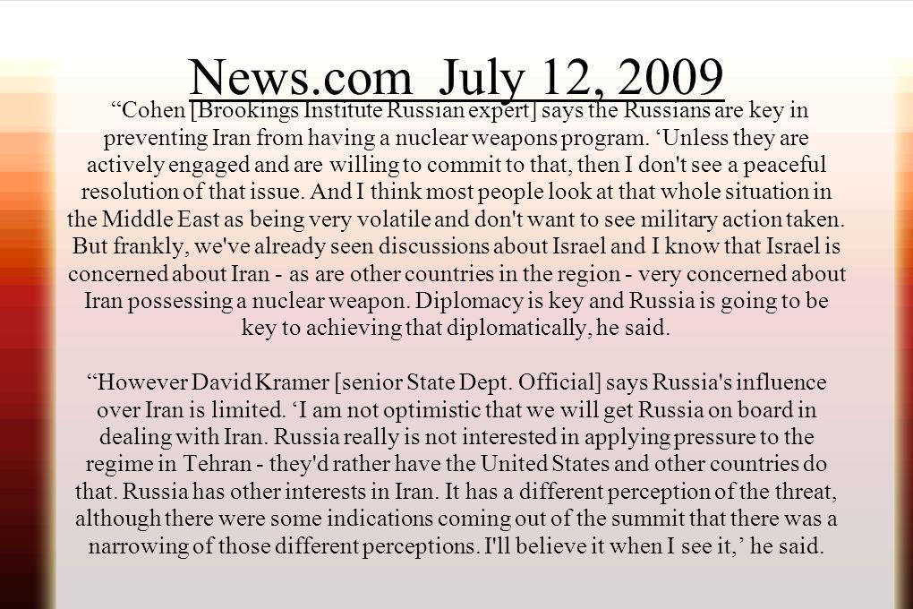 News.com July 12, 2009