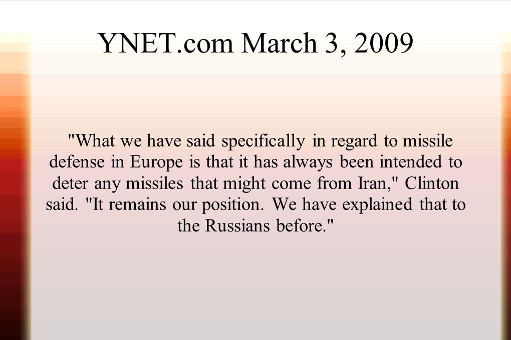 YNET.com March 3, 2009