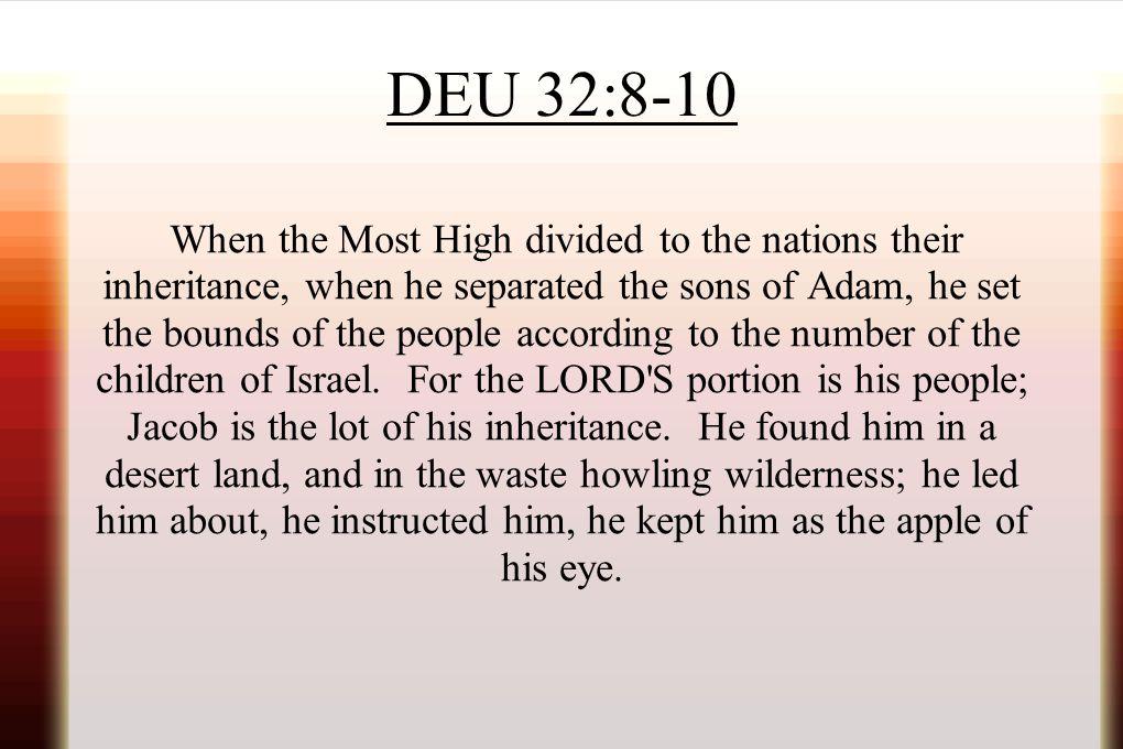 DEU 32:8-10
