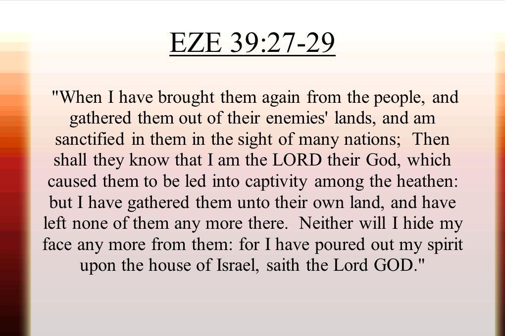 EZE 39:27-29