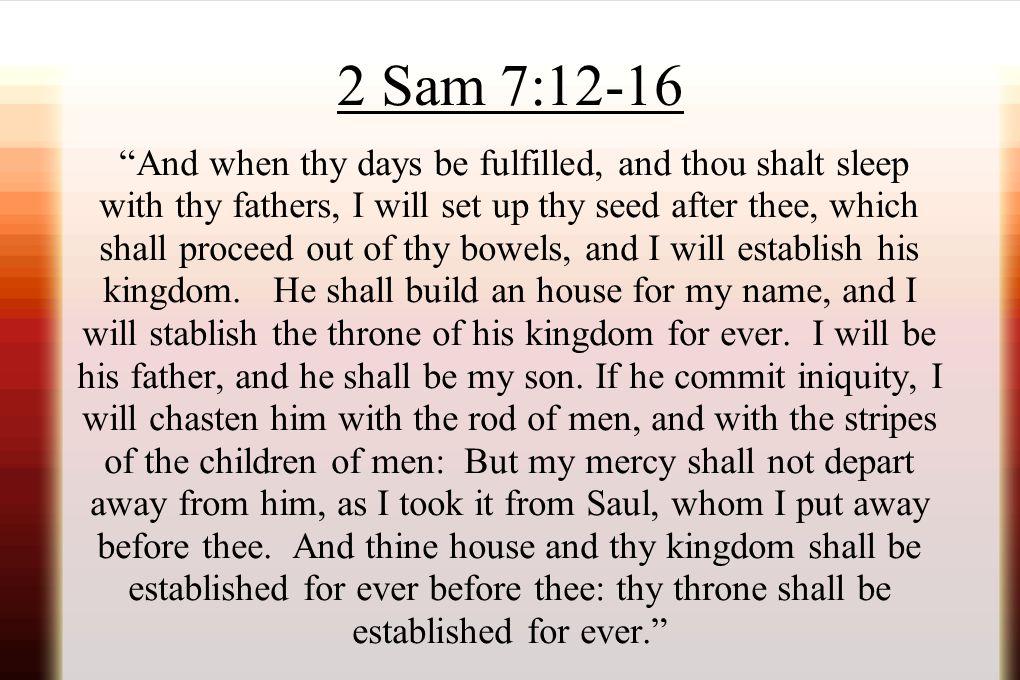 2 Sam 7:12-16