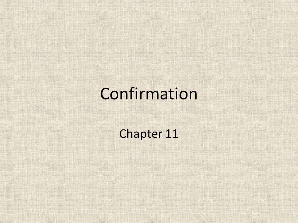 Confirmation Chapter 11