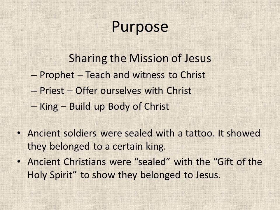 Sharing the Mission of Jesus