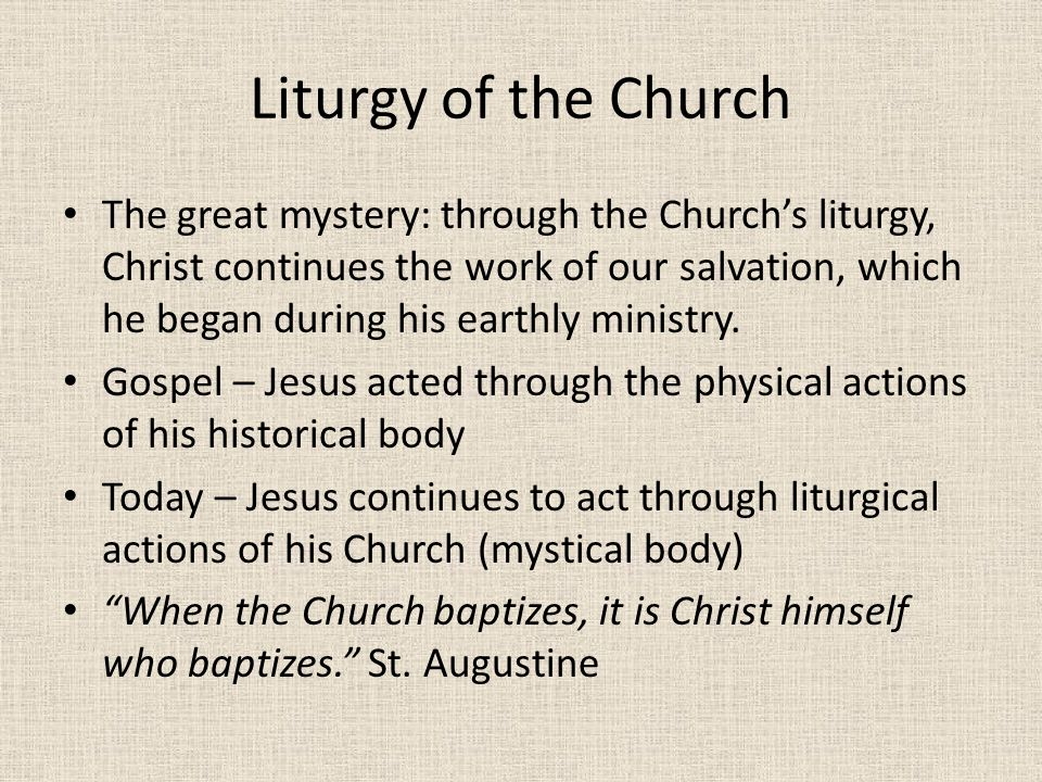 Liturgy of the Church
