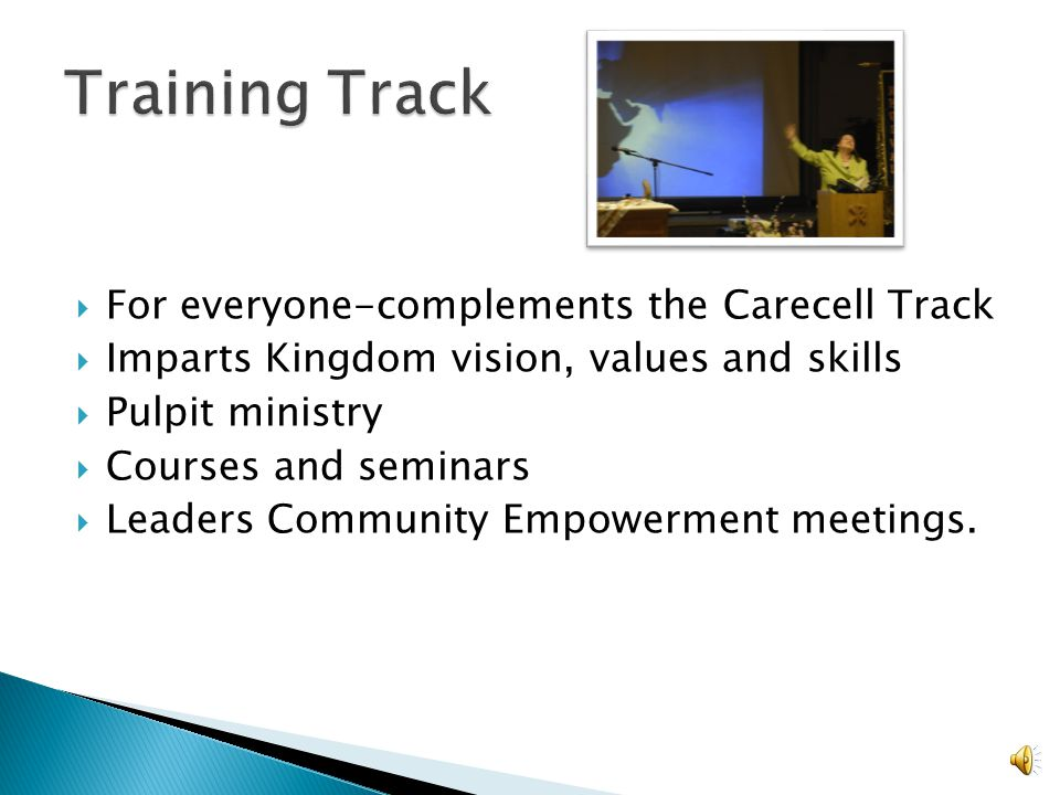 Training Track For everyone-complements the Carecell Track