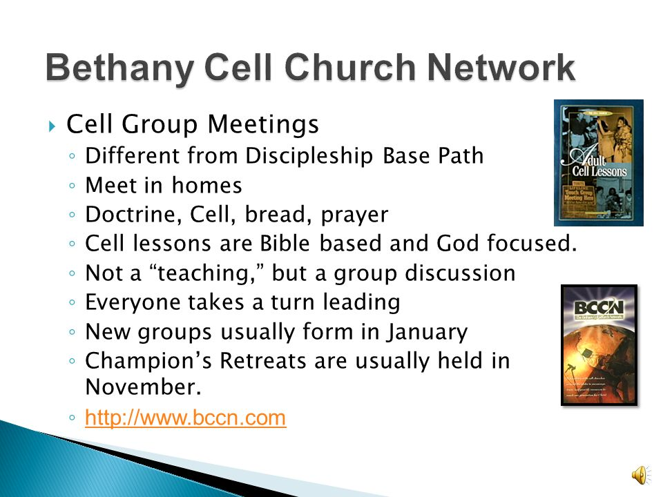 Bethany Cell Church Network