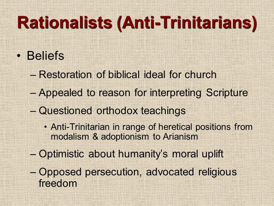 Rationalists (Anti-Trinitarians)