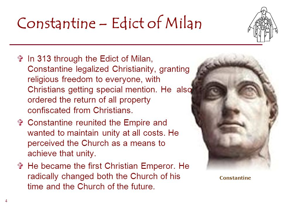 constantine and his effect on christianity Although no contemporary christian challenged constantine for his inaction during the persecutions or was spreading rumors to that effect.