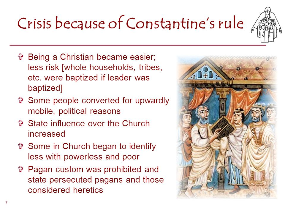 Crisis because of Constantine's rule