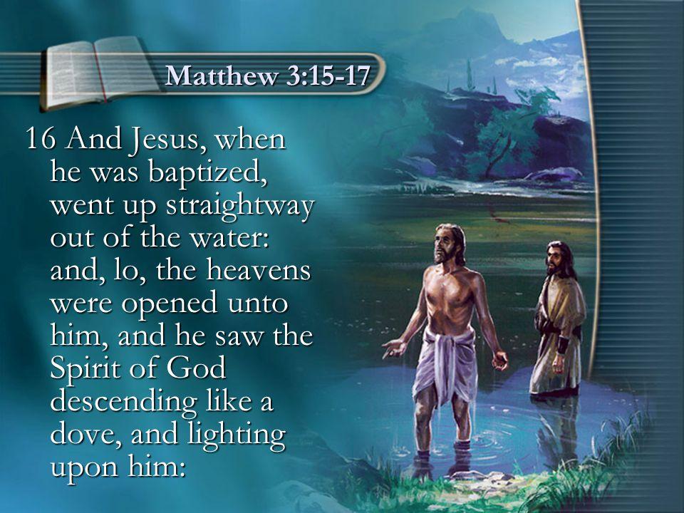 Matthew 3:15-17